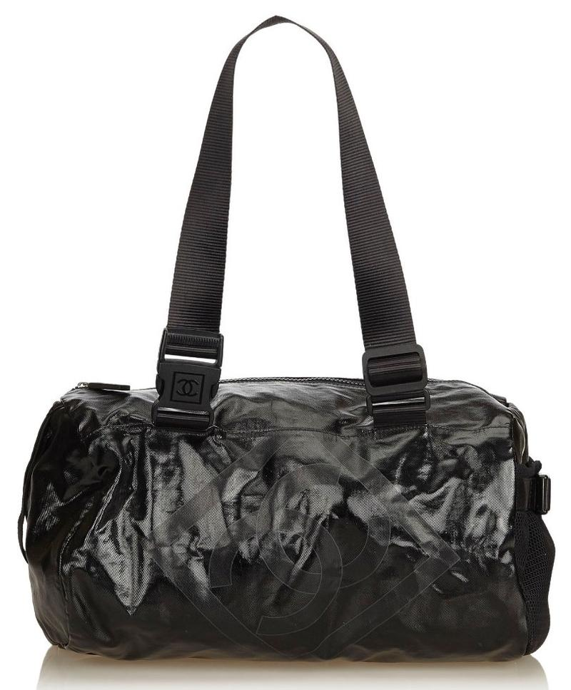 Chanel Black Coated Canvas Sport Line