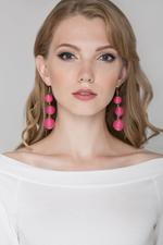 OwnTheLooks Pink & Gold Yarn Ball Drop Earrings (804A)