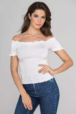 OwnTheLooks White Smocked Top