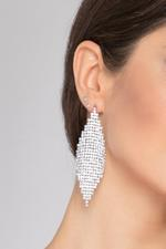 OwnTheLooks Drape Diamond Mesh Earrings