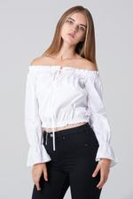 OwnTheLooks White Sabrina Top