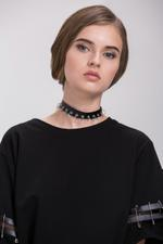 OwnTheLooks Black & Silver-Toned Ring Choker Necklace (596A)