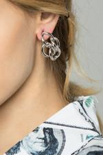 OwnTheLooks Silver Quad Round-Twined Earrings (581B)