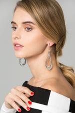 OwnTheLooks Silver-Toned Dangling Earrings (582B)