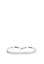 APM Monaco 925 Silver  Zirconia Double Finger Ring (A15977OX-058)