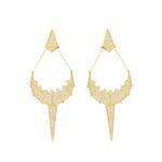 APM Monaco Gold-Plated 925 Silver Zirconia Drop Earrings (AE8995OXY)
