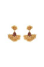 Gunina Gold Drop Earrings (GE1241)