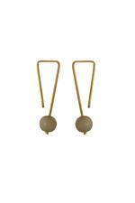 Gunina Gold & Silver Drop Earrings (GE1262)
