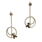 Gunina Silver Drop Earrings (GE1282)