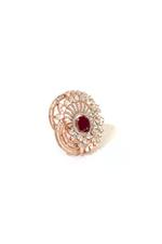 Gunina Rose Gold Cocktail Ring (GRA617)