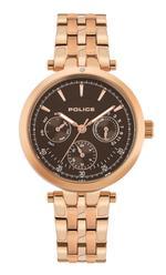 Police Sesma Rose Gold Tone Analog Watch -  P 15890BYR-12M