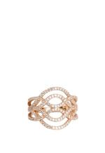 APM Monaco 925 Silver Rose Gold Plated Zirconia Ring (R14124OX-54)