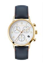 Ted Baker Cosmopolitan Men's Watch with White Dial and Blue Leather Strap - T TBKPCSF9023O