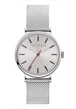 Ted Baker Phylipa Women's Watch with White Dial and Silver And Brown Mesh Bracelet - T TBKPPHF9203O