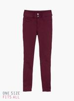 Tiffosi Burgundy One Size Comfort Skinny Fit Jeans (TFS041)