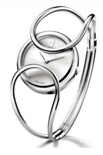 Calvin Klein Inclined Silver Bangle Analog Watch - K4C2M116