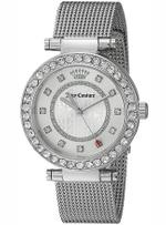Juicy Couture Cali Silver Tone Mesh Bracelet Analog Watch - 1901372