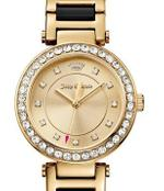 Juicy Couture Cali Two Tone Gold Black Analog Watch -1901422