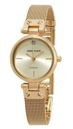 Anne Klein Gold Tone Stainless Steel Analog Watch - AK-3002CHGB
