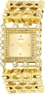 Guess Gold Tone Stainless Steel Bracelet Analog Watch - U0574L2
