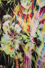 Miella Multicolored Neon Floral Abstract Print Rectangular Scarf (SC11-MUL)
