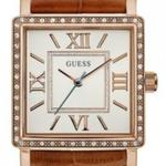 Guess Highline Brown Leather Strap Analog Watch -  W0829L4