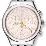 Swatch Dreamnight Silver Pink Stainless Steel Analog Watch - YCS588G