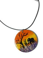 B-The Label Black & Red Handpainted Necklace (B-10)