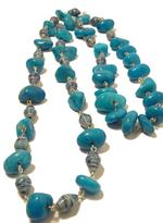 B-The Label Blue Beaded Long Necklace (B-21)