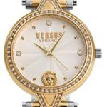 Versus V Vers Crys Silver Gold Design Links Analog Watch - V WVSPCI4218