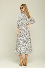 OwnTheLooks White & Black Cheetah Print Dress (093C)