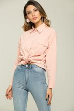 OwnTheLooks Rose Pink Button-Up Shirt (060C)
