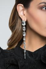 OwnTheLooks Silver Studded Drop Earrings (237C)