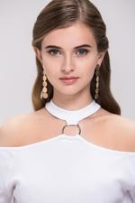 OwnTheLooks Gold Plated Circular Tier Dangling Earrings (482A)