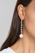 OwnTheLooks Diamond Drop Pearl Earrings