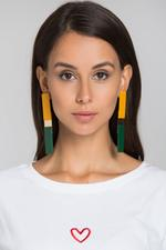 OwnTheLooks Yellow Green Bar Earrings