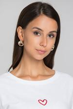 OwnTheLooks Muted Gold-Toned Round Knotted Oversized Stud Earrings (472B)