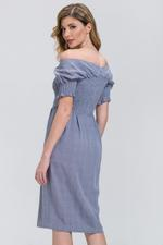 OwnTheLooks Powder Blue Glen Plaid Dress (436A)