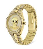 Police Montaria Gold Plated Stone Embellished Bracelet Strap Analog Watch (P 16027BSG-22M)