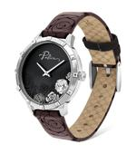 Police Marietas Maroon and black Leather Strap Analog Watch (P 16040MS-02)