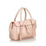 Fendi Pink Mini Linda Leather Handbag (8LFNHB024)