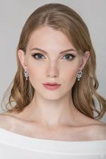 OwnTheLooks Silver-Toned Stone-Studded Drop Earrings (862A)