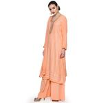 Pankhudii Peach Embroidered Palazzo Set (RAAS45)