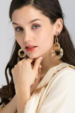 OwnTheLooks Gold-Toned Spiral Drop Earrings (204B)