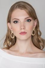 OwnTheLooks Gold Croissant Earrings