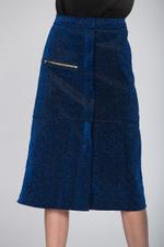OwnTheLooks Teal Blue A-Line Skirt (073A)
