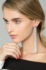 OwnTheLooks Silver-Toned Tassel Earrings (575B)