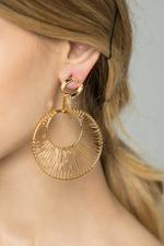 OwnTheLooks Gold-Toned Dreamcatcher Drop Earrings (578B)