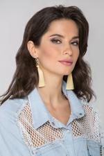 OwnTheLooks Yellow & Gold-Toned Tassel Earrings (855A)