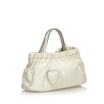 Gucci White Leather Hysteria Satchel (9CGUHB033)